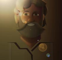 Grizzly Adams. Un proyecto de Diseño, Ilustración, Diseño de personajes y Diseño gráfico de Alejandro Mazuelas Kamiruaga - Lunes, 16 de noviembre de 2015 00:00:00 +0100
