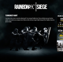 Tom Clancy's Rainbow Six® Siege. A Design, UI / UX, Game Design&Interactive Design project by Pablo Mateo Lobo - 09-12-2015