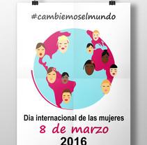 Concurso cartel día internacional de las mujeres. Um projeto de Design gráfico de annitta         - 18.12.2015
