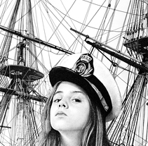The girl who wanted to sail the world. A Illustration, Crafts, and Fine Art project by Pablo Jurado Ruiz         - 20.12.2015