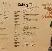 Carta de Postres Restaurante La Bicicleta. A Graphic Design project by Demian  Abrayas - 30-12-2015