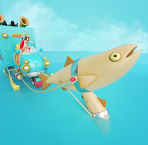 EMMI FONDÜ. A Illustration, 3D, Animation, and Art Direction project by Aarón Martínez - 03-01-2016