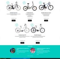 Bicicletas eléctricas Ecobike. Un proyecto de Diseño Web de La Teva Web Diseño Web  - Jueves, 07 de enero de 2016 00:00:00 +0100