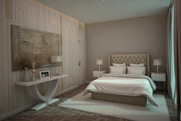 3d habitaci n moderna domestika for Planificador habitacion 3d