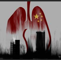 Artículo de opinión. Contaminación en Pekin.. A Illustration project by Pilarcho Yanguas - 20-01-2016