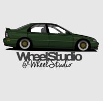 Ilustracion // Honda Accord 98 . A Illustration, and Automotive Design project by WheelStudio  - 22-01-2016