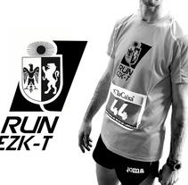 diseño logo RUN-EZKABARTE. Un proyecto de Diseño de Marina Burgaya         - 23.01.2016