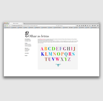 Website Olhar as Letras . A UI / UX, Web Design, and Web Development project by Filipa Ribeiro - 19-01-2013