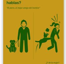 Campaña por un lenguaje no sexista en las aulas. Un proyecto de Diseño, Diseño gráfico, Tipografía, Cop y writing de Lucía Dueñas Moyano - 26-01-2016