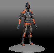 Armadura de combate (Zbrush). A 3D, and Game Design project by José Antonio Palomares Santamaria - 11-02-2016