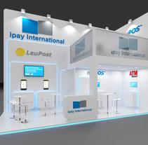 Diseño del stand para la empresa Ipay . A Design, 3D, and Events project by Ferran Aguilera Mas         - 22.02.2016