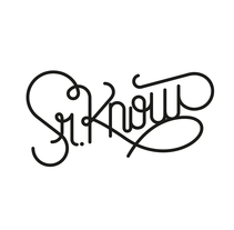 Sr. Know. A Br, ing, Identit, Calligraph, Art Direction, Design, Graphic Design, Illustration, T, and pograph project by Bnomio ™ - Jan 30 2016 12:00 AM