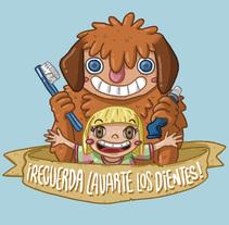 ¡Recuerda lavarte los dientes!. Un proyecto de Diseño, Ilustración, Diseño de personajes y Caligrafía de Mario Fernández García-Pulgar - 02-03-2016