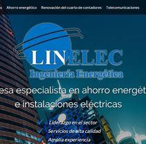 Landing page  LINELEC: Empresa especialista en ahorro energético  e instalaciones eléctricas. A Advertising, and Web Development project by Publicis Proximedia         - 13.03.2016