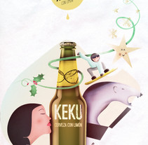 cerveza AKEKU versión navideña. A Illustration, and Graphic Design project by isaq3         - 15.03.2016