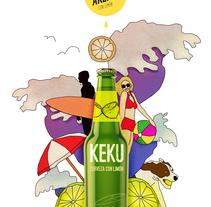 Cerveza Keku - stefano zanvit. Um projeto de Ilustração de Stefano         - 15.03.2016