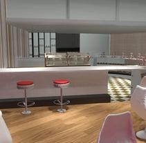 tienda de cupcakes. Um projeto de 3D e Design de interiores de Andreina Teixeira         - 22.03.2016