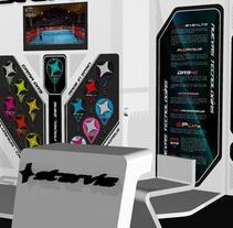 Stand WPT Starvie 2015. Um projeto de Design, 3D, Arquitetura, Br, ing e Identidade, Design de móveis, Design de interiores, Design de produtos e Infografia de Carlos Alberto Martín Moreno         - 09.12.2015