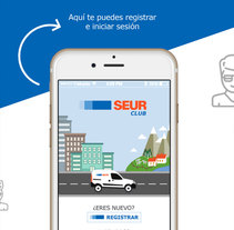 Diseño de Interfaz de Usuario App Seur Club. A Design, Illustration, Art Direction&Interactive Design project by Verónica Zara Benítez         - 16.03.2016