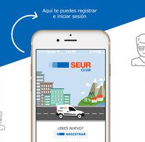 Diseño de Interfaz de Usuario App Seur Club. Un proyecto de Diseño, Ilustración, Dirección de arte y Diseño interactivo de Verónica Zara Benítez         - 16.03.2016