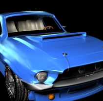 Animation a reconstruction with parts of a shelby gt 350. A 3D, Animation, Automotive Design, and Product Design project by Toni Rubio Gutierrez         - 01.06.2015