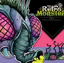 The Retro Monster. Un proyecto de Ilustración y Diseño de personajes de Daniel Carrillo         - 28.04.2016