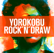 Retratos Yorokobu Rock´n´Draw. A Illustration, Music, and Audio project by Oscar Giménez - 26-04-2016