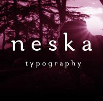 Neska typography. Un proyecto de Diseño, Diseño gráfico y Tipografía de Stella Citores         - 28.04.2016