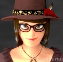 Emma, personaje 3D. A 3D project by Fran Alburquerque         - 24.04.2016