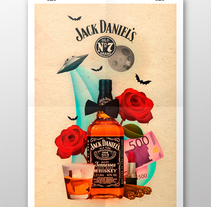 Simulación de campaña para Jack Daniel's. A Design, Illustration, Art Direction, and Graphic Design project by Víctor Avilés         - 06.05.2016