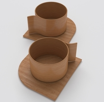 Animum School: Tazas de madera. Um projeto de 3D de Erika Beatriz Fernández Martínez         - 10.05.2016