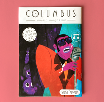 COLUMBUS MUSIC MAGAZINE / קולומבוס. A Character Design, Editorial Design&Illustration project by Jhonny  Núñez - Jul 21 2016 12:00 AM