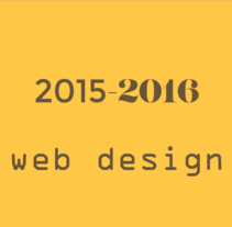 Web design 2015-16. A Design, UI / UX, Graphic Design, Information Architecture, Web Design, and Web Development project by Marc Camps Oller         - 24.07.2016