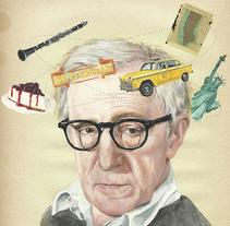 Woody Allen. Ilustración para Tentaciones de El País.. A Illustration, Editorial Design, and Fine Art project by Tamara Feijoo Cid - 25-07-2016