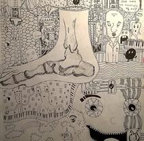 The foot world. Un proyecto de Diseño, Ilustración, Dirección de arte, Diseño de personajes, Diseño gráfico, Pintura, Collage y Arte urbano de Dani Sanguineti - 26-07-2016