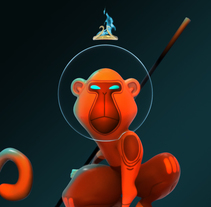 Character design based on illustrations of Bambino Monkey by David Almenara Troyano . A Illustration, and 3D project by David Almenara Troyano         - 03.08.2016