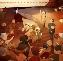 Cartel Escuela de Cine de la UCA. Un proyecto de Ilustración de David Rendo García - 02-08-2016
