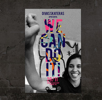 Cartel Divas Skateras. A Art Direction, and Graphic Design project by Evelyn Leine Gargiulo - 17-08-2013