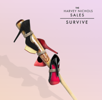 "Harvey & Nichols Sales. Campaña ""Survive"". A Design, Advertising, Art Direction, Graphic Design, Marketing, Cop, and writing project by Sergio Kian         - 20.08.2016"