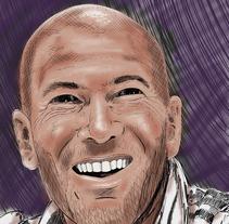 """Ilustración """"Zidane"""". Un proyecto de Ilustración de Silk  Belvís  - 27-08-2016"""