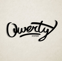 QWERTY SYSTEM LOGO. A Br, ing, Identit, Graphic Design, and Calligraph project by David Ramos Sánchez         - 17.01.2017