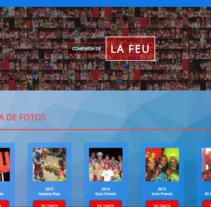 Pagina Web realizada para el Conjunto Artístico Comparsa de la FEU.. A Web Design project by Emilio Jesús Pérez Pileta         - 06.07.2016