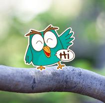 Little Owl Stickers Set. Un proyecto de Ilustración y Diseño de personajes de Marta Girabal Montaner         - 04.09.2016