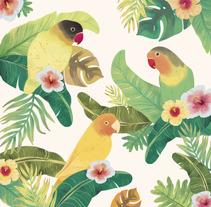 Tropical Print. Un proyecto de Diseño, Ilustración, Diseño de vestuario y Diseño gráfico de Raquel Sarabia Ruda - 02-07-2016