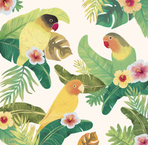 Tropical Print. A Design, Illustration, Costume Design, and Graphic Design project by Raquel Sarabia Ruda - 02-07-2016