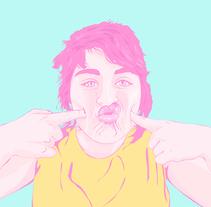 Funny faces. Un proyecto de Ilustración de sandra  clua (ginjol)         - 18.09.2016