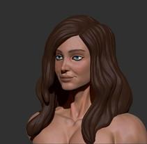 Esculpido y textura del Busto de mujer. A 3D project by Carolina Cabrero         - 29.05.2016