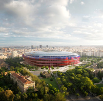 Nou Camp Nou - Estadio del F.C. Barcelona. A Photograph, 3D, Architecture, Interior Architecture, Post-Production&Infographics project by Phrame         - 31.08.2015