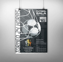 Carteles · Torneo de Fútbol Sala en Trillo. A Graphic Design project by Cristina L. N. - 15-07-2010