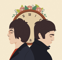 Oasis Music Pill - Be Here Now. A Illustration project by Eva Mez         - 22.10.2016